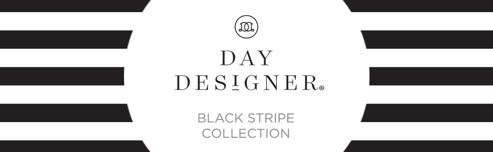 blue sky planners and calendars, day designer black stripe collection, 2020-21, daily, monthly