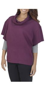 French terry, essentials, cowl neck pullover, ladies, comfy