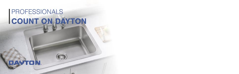 dayton stainless steel kitchen sinks