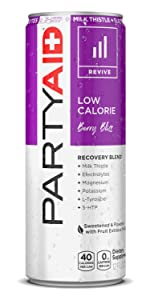 PARTYAID RESTORE REHAB BLEND BERRY HANGOVER CURE PARTY CLEAN NO CAFFEINE LIFEAID BEVERAGE CO
