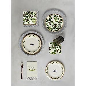 paper tableware;paper plates;paper napkin;paper plate;plate;napkin;cocktail;bar napkin