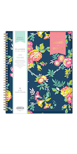 blue sky planners and calendars, day designer peyton navy collection, 2020-21, weekly monthly