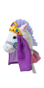 princess pony stick horse