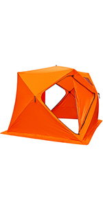 8 person ice shelter pop-up ice shanty ice shelters portable ice fishing shelter