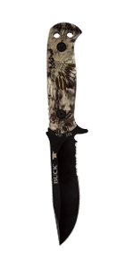 Buck Knives 822 Sentry Full Tang Fixed Blade Partially Serrated Tactical Knife with MOLLE Sheath