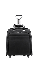 "15.6"" Nylon Fly-Through Checkpoint-Friendly Patented Detachable Wheeled Laptop Briefcase"