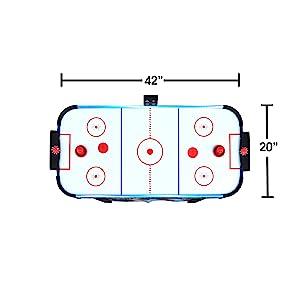 Kids air hockey table 42-inch dimensions