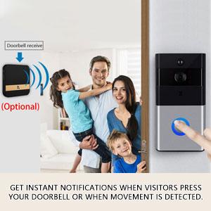 remote control wifi camera doorbell