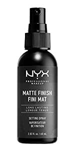 matte makeup setting spray, nyx, nyx professional makeup