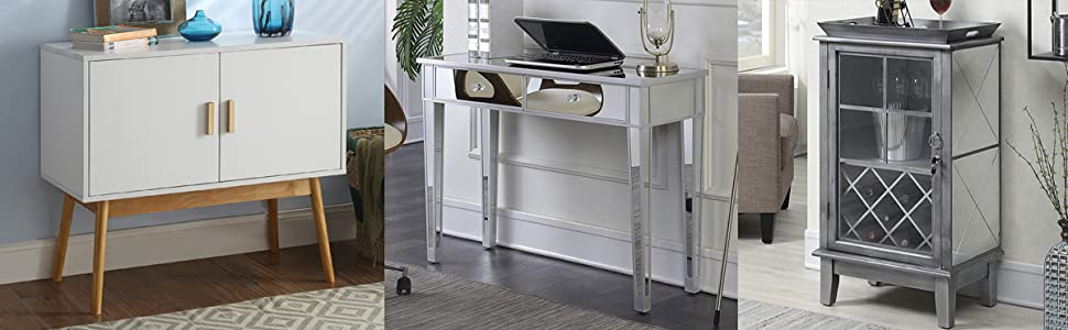 side table console desk hutch mirror traditional modern living family room