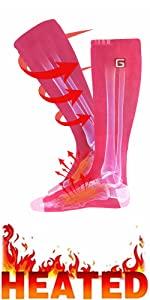 unisex winter warm rechargeable electric heated socks battery powered heat sox kit for men women  33