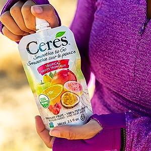 Ceres Organic Tropical Fruit Smoothie Vegan Healthy