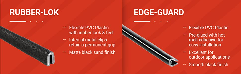 edge trims rubber lok edge guard