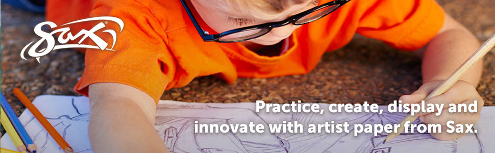 Practice, create, display and innovate with artist paper from Sax.