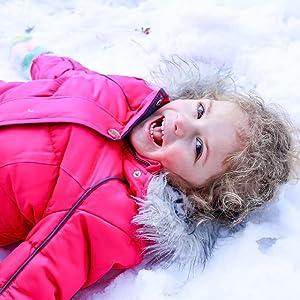 baby kids boys girls warm hooded winter coat jacket