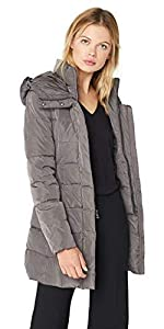 Taffeta Down Coat with Bib