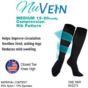NuVein 15-20 mmHg compression socks details