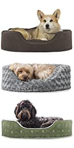 furhaven; product; comparison; pet; bed; oval; round