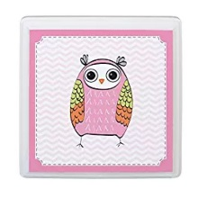 Pink Owl Square Sign