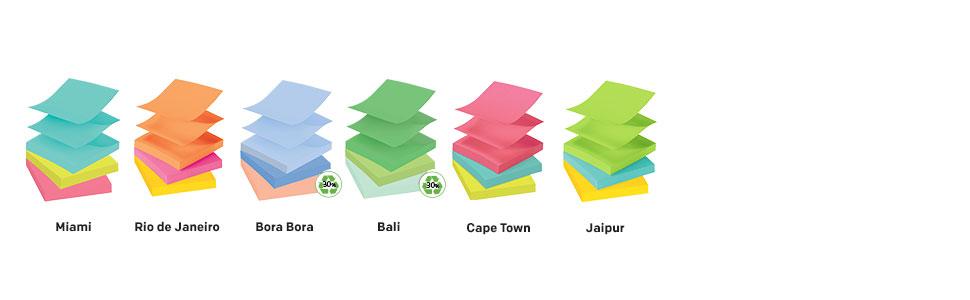 Post-it Pop-up Notes in Miami, Rio de Janeiro, Bora Bora, Bali, Cape Town and Jaipur