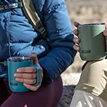 camelbak, stainless steel camp mug, insulated camp mug, camp mug with lid, coffee mug for camping