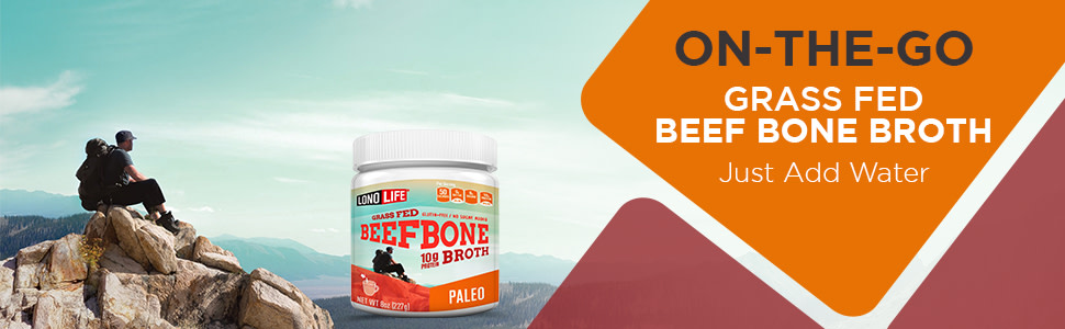 On the Go Grass Fed Beef Bone Broth