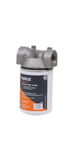 Groz 45903 Spin On Cartridge Style Fuel Filter with 10 Micron Water Block Filter