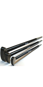 Groz 33155 Industrial Series, Heavy Duty Roll Head Pry Bar Forged Chrome Vanadium Steel (38-43 Hrc)