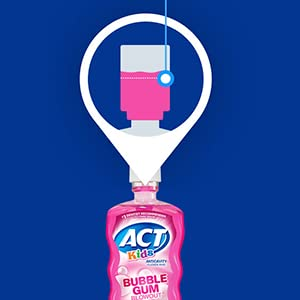 ACT Kids Anticavity Fluoride Rinse Mouthwash use with Toothpaste for Healthy Teeth Formula