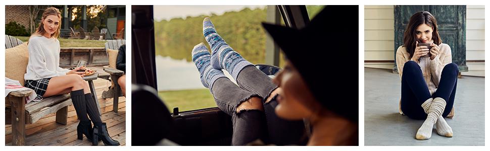 GOLDTOE women boot and knee high socks