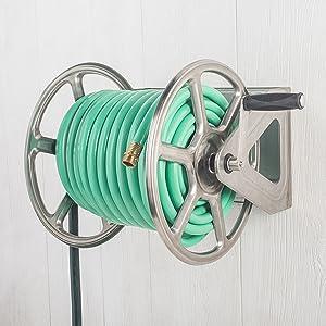 Stainless Steel hose reel wall floor mounted