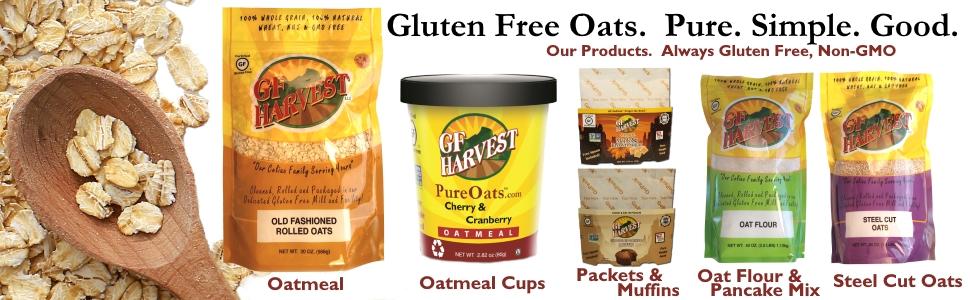 Gluten free, gluten free oats, gluten free oatmeal, non-GMO, organic oats, organic oatmeal, celiac