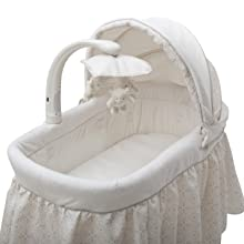 simmons kids bassinet baby infant canopy removable adjustable