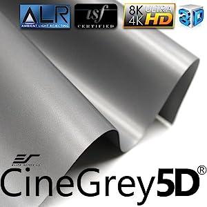 cinewhite 5D; designer cut; ambient light rejecting; ALR; fabric; cloth; screen material