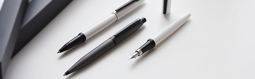 Strobe Silver Chrome Trim Sheaffer VFM Fountain Pen