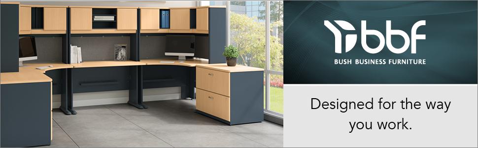 bush furniture,bush business furniture,office furniture,desks,desk,series A,beech