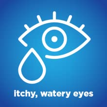 itchy, watery eyes