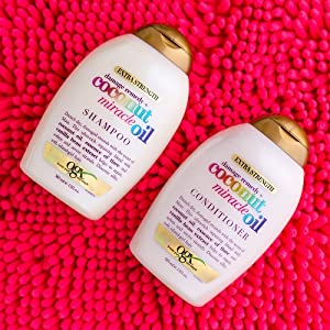 OGX coconut miracle oil smoothing frizzy hair dry damaged flyaways organix sulfate free