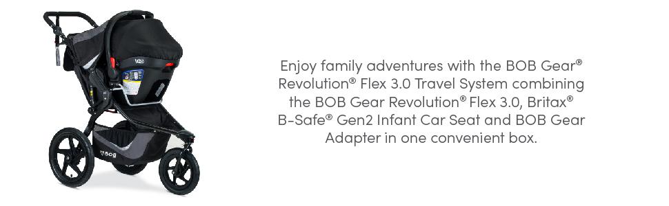 BOB Gear revolution flex 3.0 travel system description
