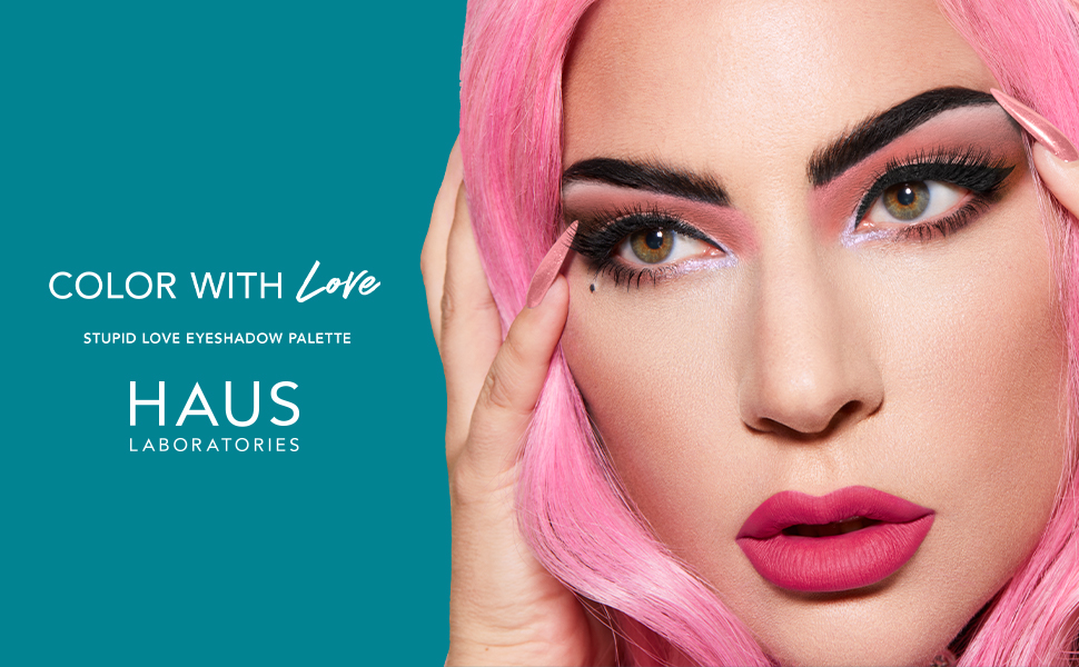 Haus Laboratories BEAUTY lady gaga hauslabs eyeshadow Stupid Love Eyeshadow Palette blue eyeshadow