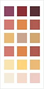 red paint, yellow paint, coral paint, warm colors, behr paint