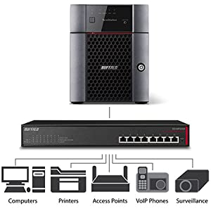 TeraStation, network, switch, 10gbe