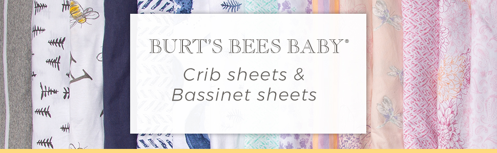 Burts Bees baby Crib sheets bassinet bedding nursery organic cotton
