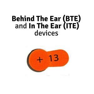 behind the ear hearing aid batteries hearung hearingaid earrings for zinc air pack of