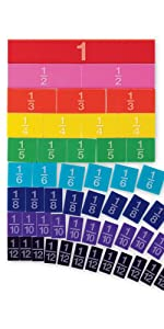 Embossed Rainbow Fraction Tiles (Set of 51)