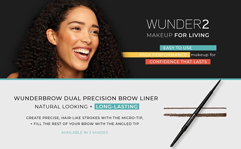 Wunder2 wunderbrow whnder gel black my wonder dark blonde brown waterproof define eyebrow pencil