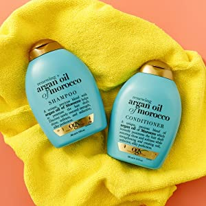 argan oil of morocco  gold cap blue bottle sulfate free