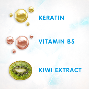 SoCozy 3 in 1 ingredients Keratin Vitamin B5 Kiwi Extract Strengthens protects soothes hydrates soft