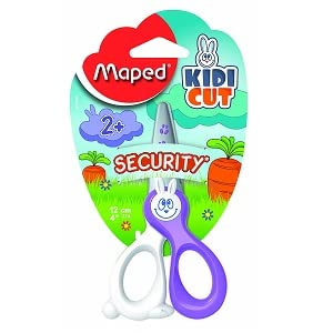 Roll over image to zoom in Maped Kidicut Safety Scissors 4.75 Inch, Assorted Colors (037800)