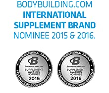 Bodybuilding.Com International Supplements Brand Nominee 2015 & 2016